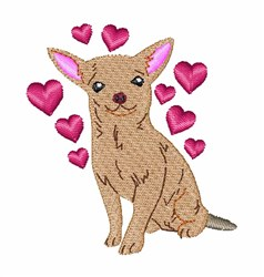Chihuahua embroidery design