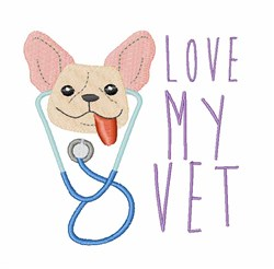 Love My Vet embroidery design