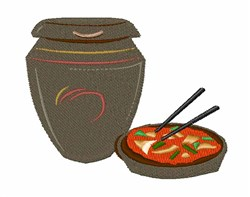 Kimchi Jar embroidery design