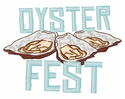 Oyster Fest embroidery design