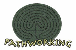 Pathworking embroidery design