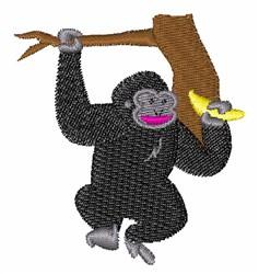 Gorilla in Tree embroidery design