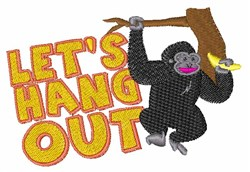 Lets Hang Out embroidery design