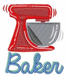 Baker embroidery design