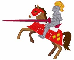 Joust Knight embroidery design