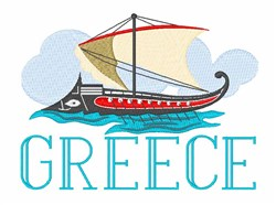 Greece embroidery design