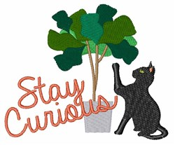 Stay Curious embroidery design