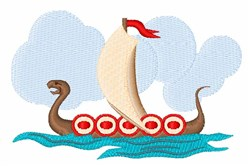 Viking Ship embroidery design