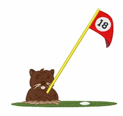 Gopher Hole embroidery design