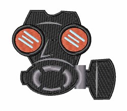 Gas Mask embroidery design