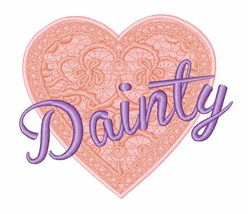 Dainty Heart embroidery design