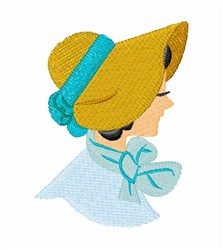 Bonnet Girl embroidery design