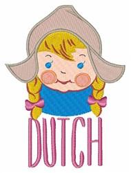 Dutch Girl embroidery design