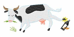 Chicago Fire Cow embroidery design