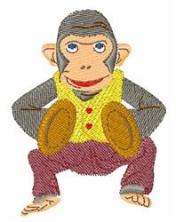 Cymbal Monkey embroidery design
