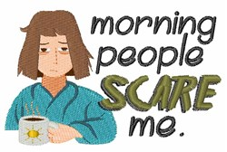Morning People embroidery design
