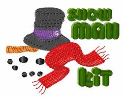 Snow Man Kit embroidery design