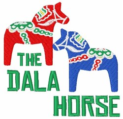 The Dala Horse embroidery design