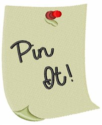 Pin It embroidery design