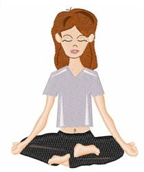 Meditating Woman embroidery design