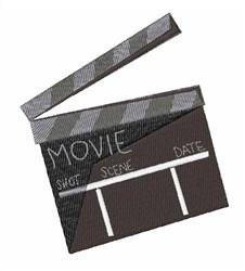 Movie Clapper embroidery design