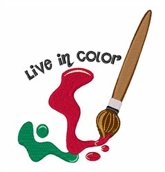 Live In Color embroidery design