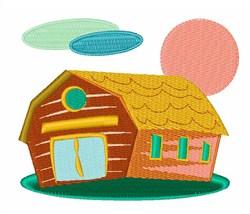 Colorful Barn embroidery design