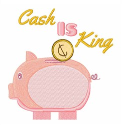Cash is King embroidery design