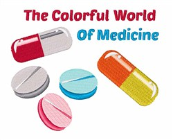 Colorful World of Medicine embroidery design