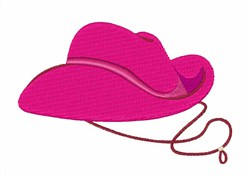 Pink Cowgirl Hat embroidery design