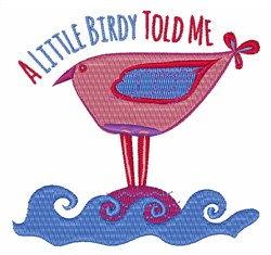 Little Birdy embroidery design