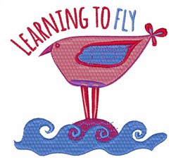 Learning to Fly embroidery design