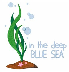 Deep Blue Sea embroidery design