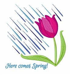 Here Comes Spring embroidery design