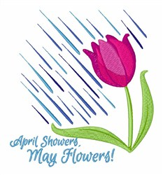 Showers Flowers embroidery design