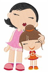 Mother & Daughter embroidery design