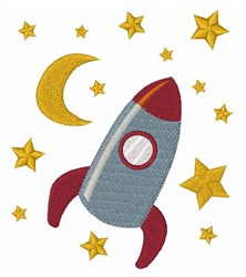 Rocket In Space embroidery design