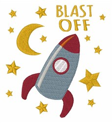 Blast Off embroidery design