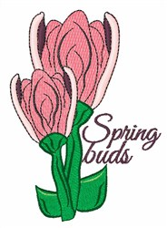 Spring Buds embroidery design