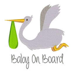Baby On Board embroidery design