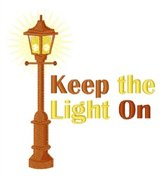 Keep The Light On embroidery design