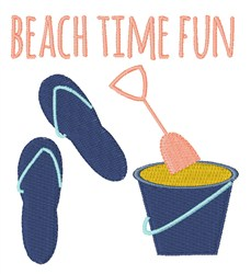 Beach Time Fun embroidery design