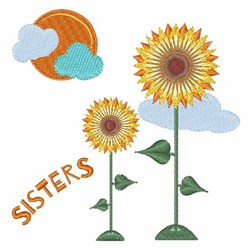 Sisters embroidery design