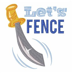 Lets Fence embroidery design