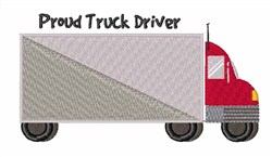 Proud Truck Driver embroidery design
