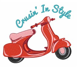 Crusin In Style embroidery design