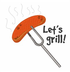 Lets Grill! embroidery design