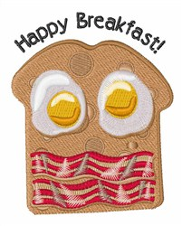 Happy Breakfast embroidery design