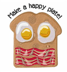 A Happy Plate embroidery design