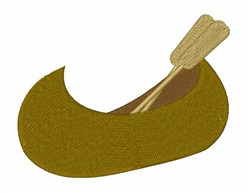 Canoe with Oars embroidery design